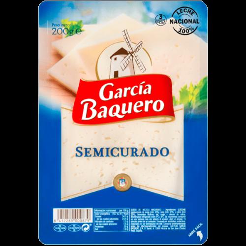 Queso Semicurado Lonchas 200gr Garcia Baquero