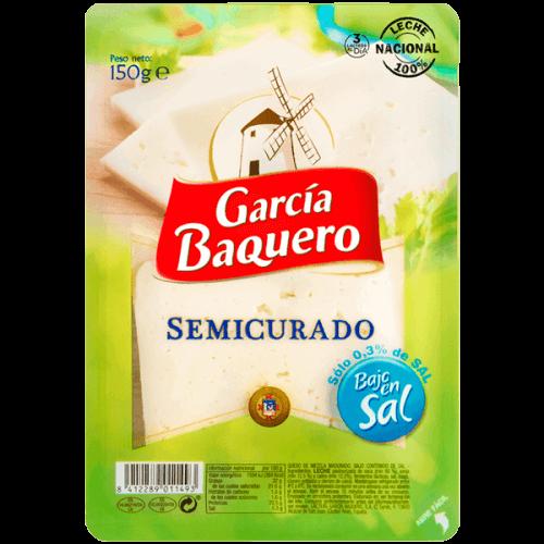 Queso Semicurado Bajo en Sal Lonchas 150gr